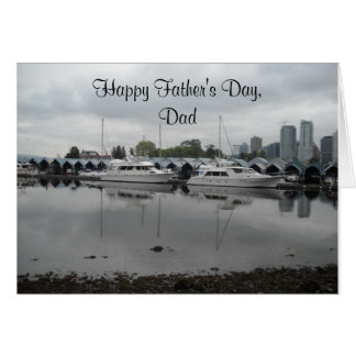 Father's Day Boating Scene Card