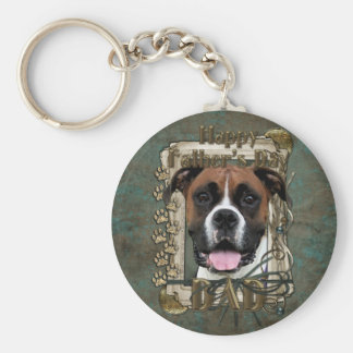 Fathers Day - Boxer - Vindy Basic Round Button Key Ring