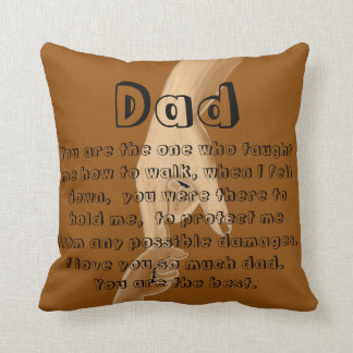 Father's day brown handsketch outdoor throwpillow