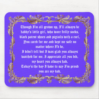 Fathers Day by Martha Valencia view about Design Mouse Pad