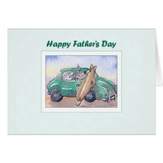Fathers Day card - Corgi dog mechanic