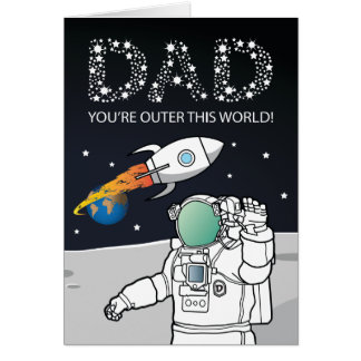 FATHERS DAY CARD | DAD OUTER SPACE
