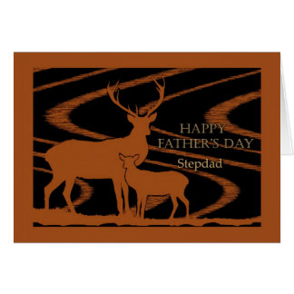 Father's Day Card for Stepdad, Deer in Field