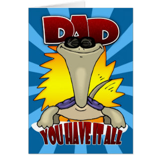 Father's Day Card - Funny Cartoon