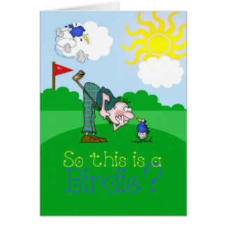 Father's Day Card Golf Birdie