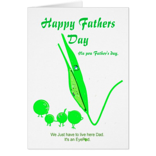Father's Day Card Pea joke