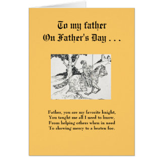 Father's Day Card - To My Favorite Knight