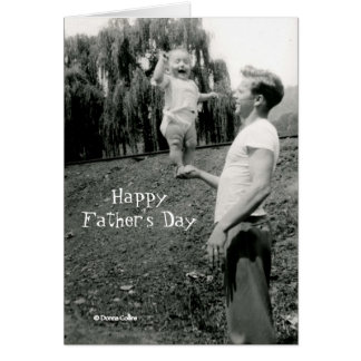 Father's Day Card with baby