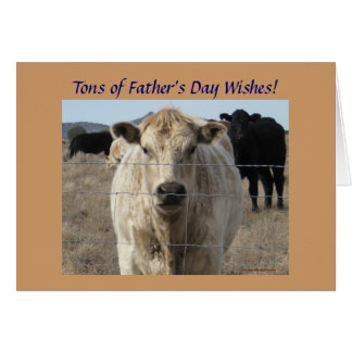 Father's Day Cattle - Ranch or Farm Greeting Card