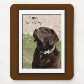 Father's Day Chocolate Brown Labrador Dog Mousepad