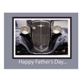 Father's Day Classic Car Postcard