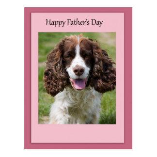 Father's Day Cocker Spaniel Dog Postcard