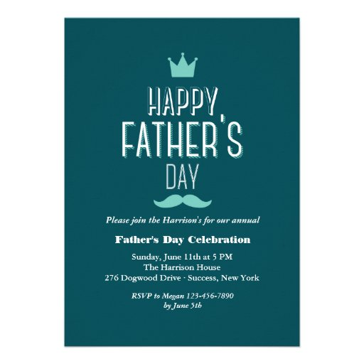 Father's Day Crown Invitation