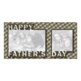 Fathers Day Cut Out ADD YOUR PHOTO Hero Badge Photo Greeting Card