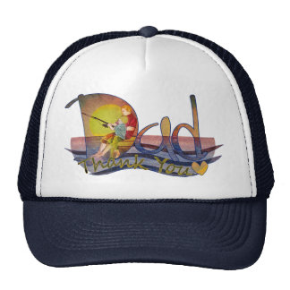 Fathers day dad & son fishing thank you hats