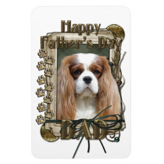 Fathers Day DAD - Stone Paws - Cavalier - Blenheim Rectangular Magnet