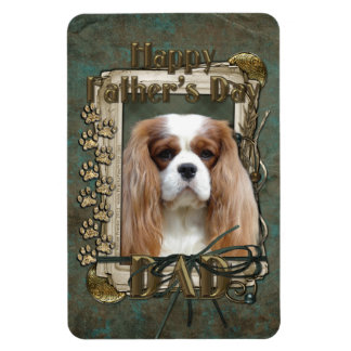 Fathers Day DAD - Stone Paws - Cavalier - Blenheim Rectangular Magnets