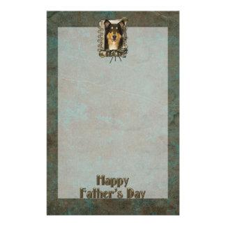 Fathers Day DAD - Stone Paws - Collie - Caroline Stationery Design