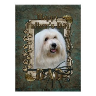 Fathers Day DAD - Stone Paws - Coton de Tulear Print
