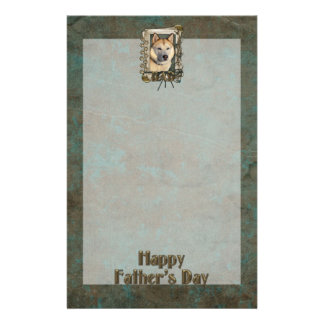Fathers Day DAD - Stone Paws Siberian Husky Copper Stationery