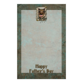 Fathers Day DAD - Stone Paws - Vallhund Customized Stationery