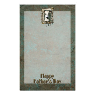 Fathers Day DAD - Stone Paws - Whippet Stationery Paper