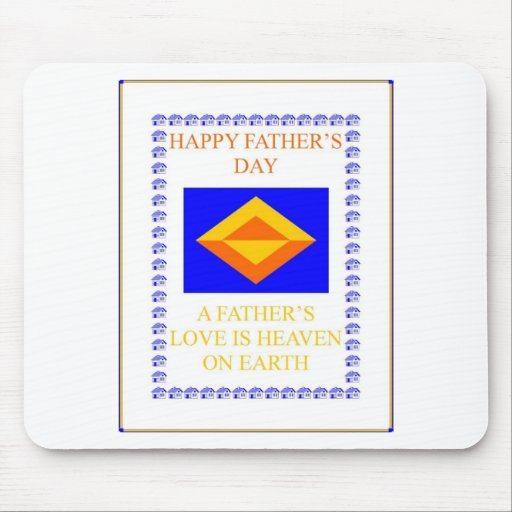 FATHERS DAY DESIGN MOUSE PAD