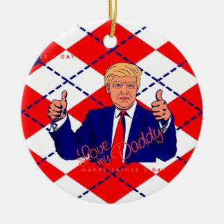 fathers day donald trump ceramic ornament