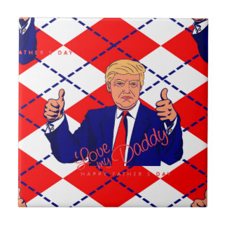 fathers day donald trump ceramic tile