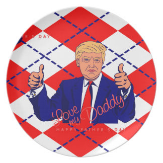 fathers day donald trump dinner plates