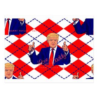 fathers day donald trump postcard