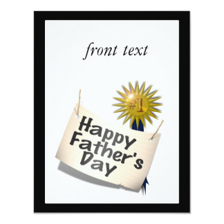 Father's Day First  Place Blue Ribbon For Any Dad 4.25x5.5 Paper Invitation Card
