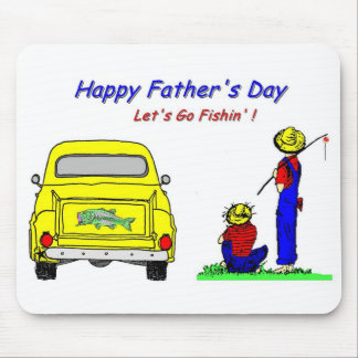 Fathers Day Fishin Mouse Pad