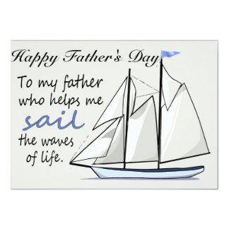 Father's Day Flat Greeting Card 11 Cm X 16 Cm Invitation Card