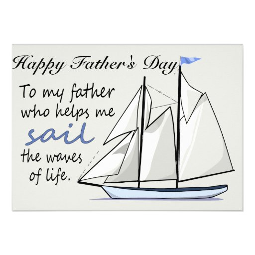 Father's Day Flat Greeting Card