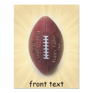 Father's Day Football 4.25x5.5 Paper Invitation Card