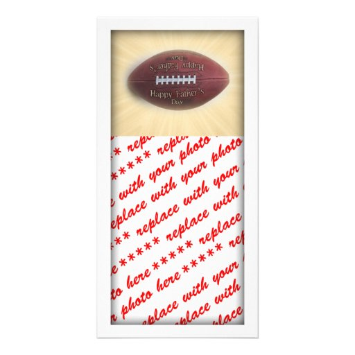 Father's Day Football Photo Greeting Card