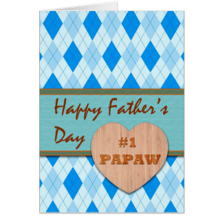 Father's Day for #1 Papaw, Argyle Design Card