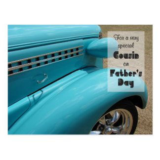 Father's Day for Cousin Hot Rod Humor Photo Postcard