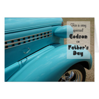 Father's Day for Godson Hot Rod Humor Photo Note Card