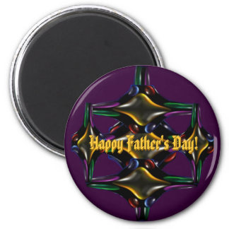 Father's Day Fractal Magnet