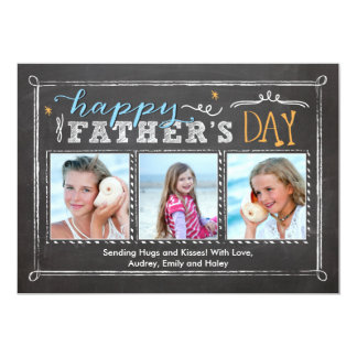 Father's Day Frames 5x7 Paper Invitation Card