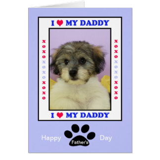 Father's Day from the Dog -- Your Photo Greeting Card