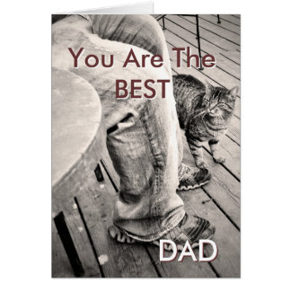 """Father's Day From the Pets"" Samson the Cat Photo Greeting Card"