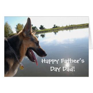 Father's Day German Shepherd Card