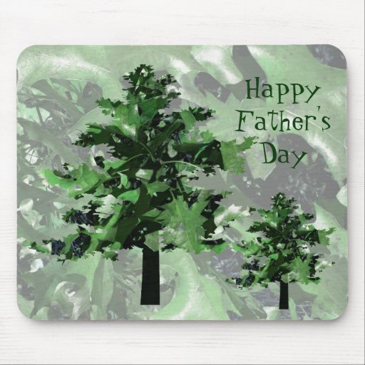 Father's Day: Green Tree Silhouette Mouse Pads