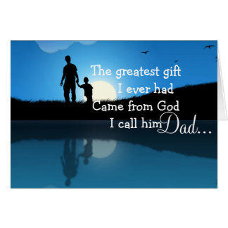 Father's Day Greeting Card/Silhouette Card