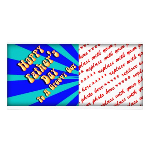 Father's Day Groovy Blues Retro For Groovy Guy Picture Card