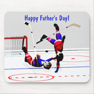 Father's Day Hockey Game Mouse Pad