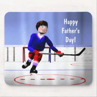 Father's Day Hockey Overtime Mouse Pad